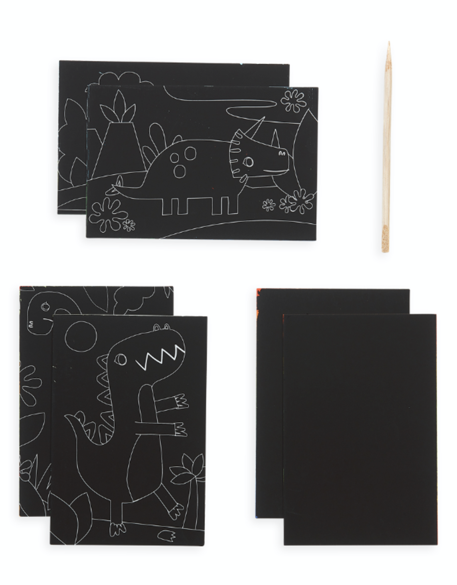 Ooly Mini Scratch & Scribble Art Kit - Dino Days