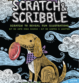 Ooly Mini Scratch & Scribble Art Kit - Playful Pups