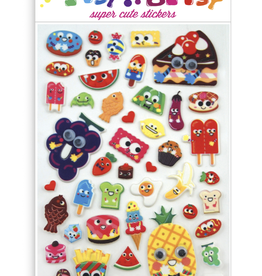 Ooly Itsy Bitsy Stickers - Googly Eyed Food