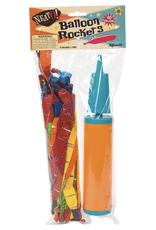 Neato! 40Pc Rocket Balloon W/ Pump