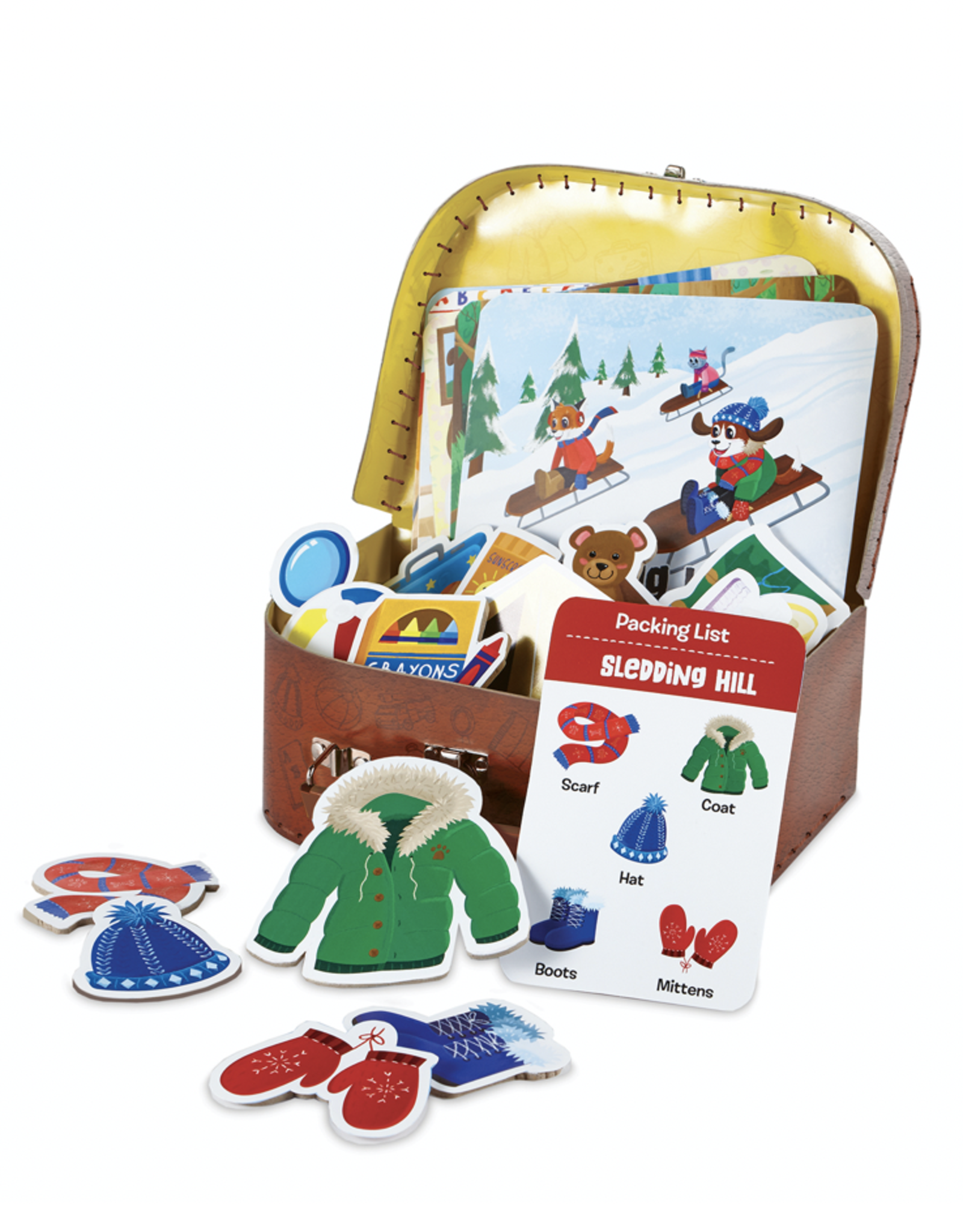 Peaceable Kingdom Topper Takes A Trip (The Suitcase Game)