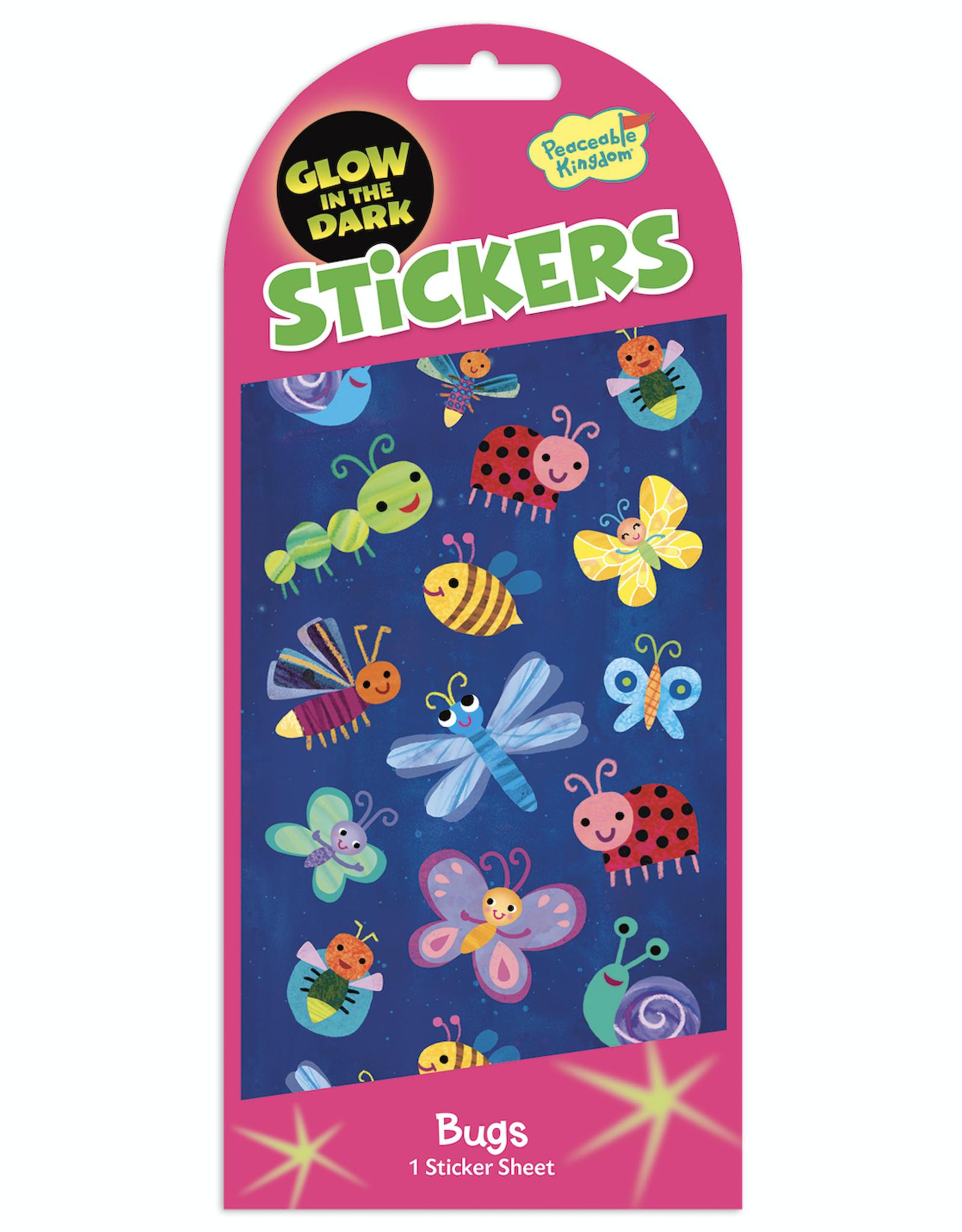 Peaceable Kingdom Glow in the Dark Stickers: Bugs