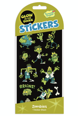 Peaceable Kingdom Glow in the Dark Stickers: Zombies