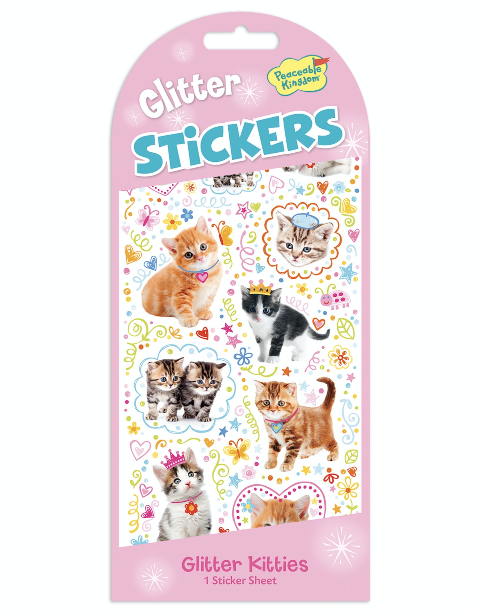 Peaceable Kingdom Glitter Stickers: Kitties