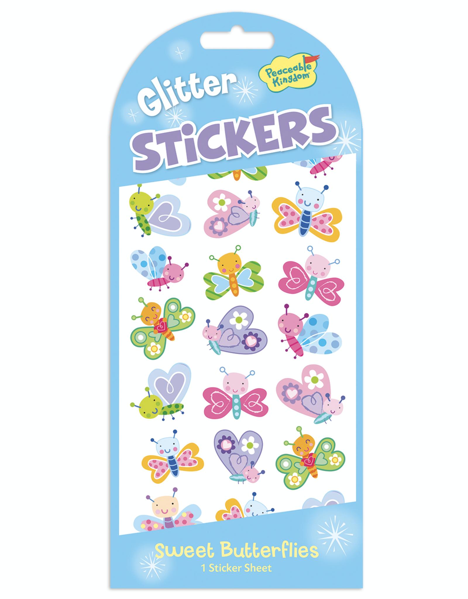 Peaceable Kingdom Glitter Stickers: Sweet Butterflies