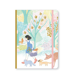 Lovely Paper Cyndi Notebook with Elastic Closure