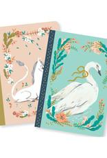 Lovely Paper Unicorn/Swan Lucille Notebooks - Set of 2