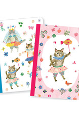 Lovely Paper Cat Aiko Notebooks - Set of 2