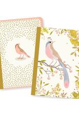 Lovely Paper Bird Tinou Notebooks - Set of 2