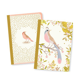 Lovely Paper Bird Tinou Notebooks - Set of 2