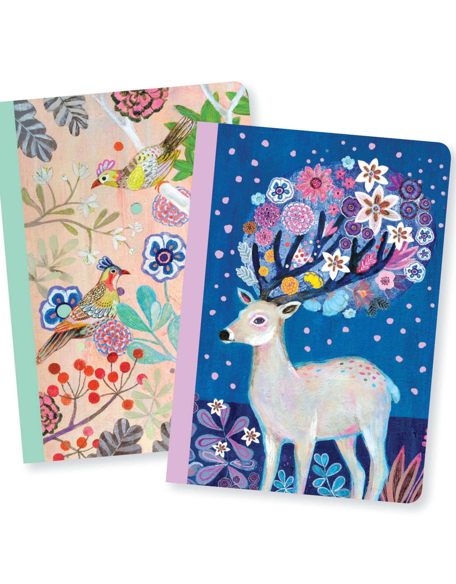 Lovely Paper Birds/Deer Martyna Notebooks - Set of 2