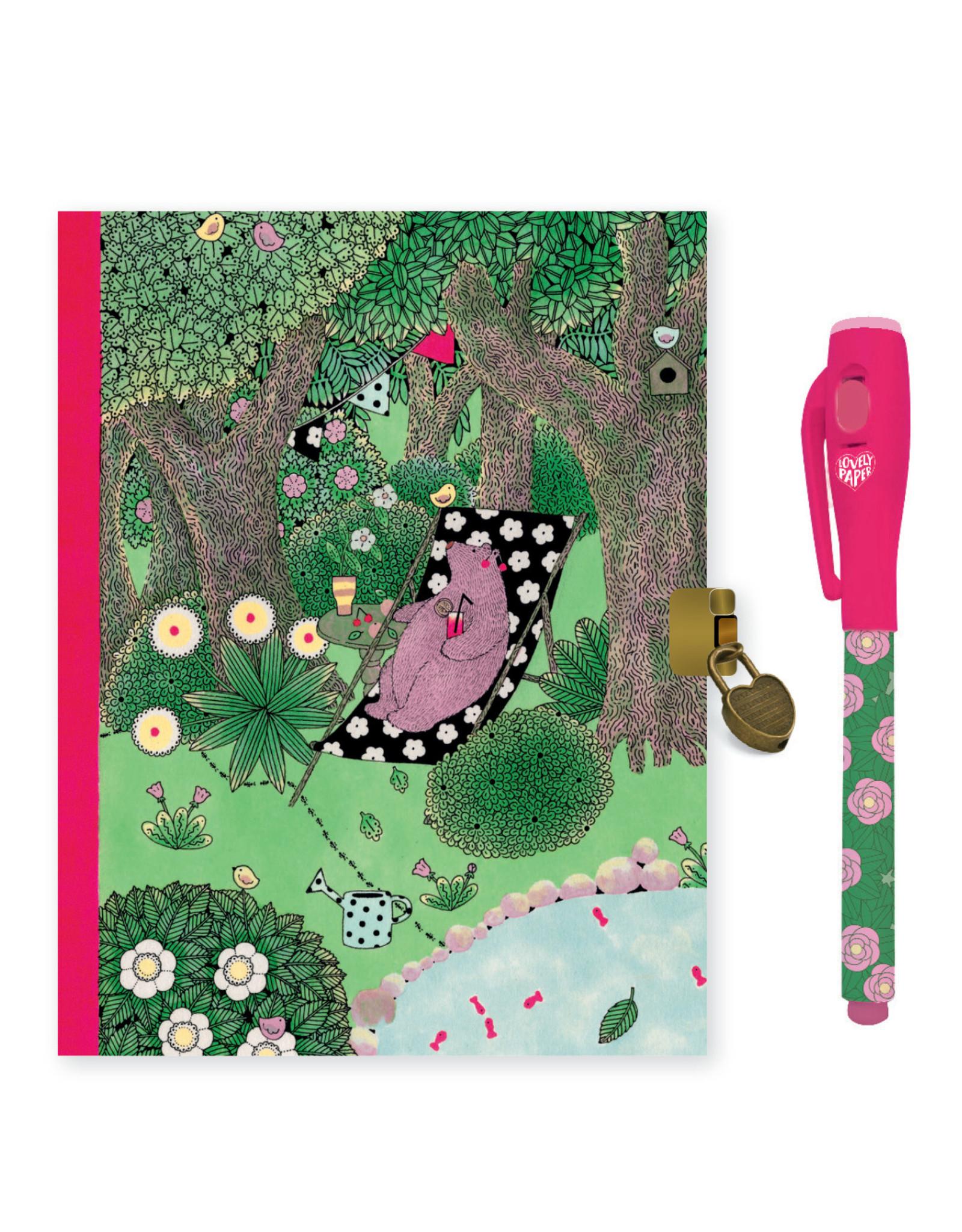 Lovely Paper Fanny Diary with Lock & Magic Pen