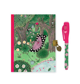 Lovely Paper Fanny Diary with Lock & Magic Pen