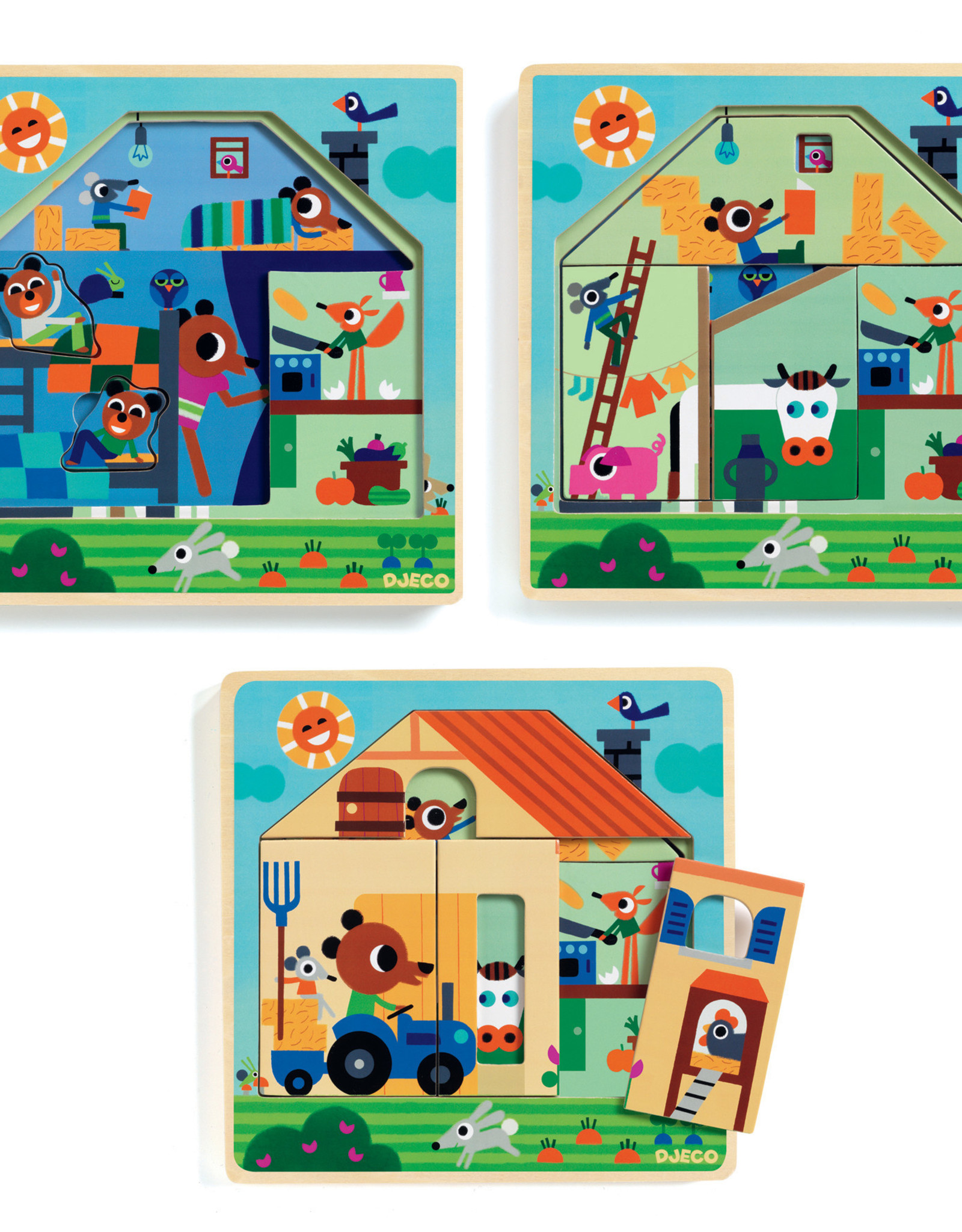 Djeco Chez Gaby Wooden Puzzle
