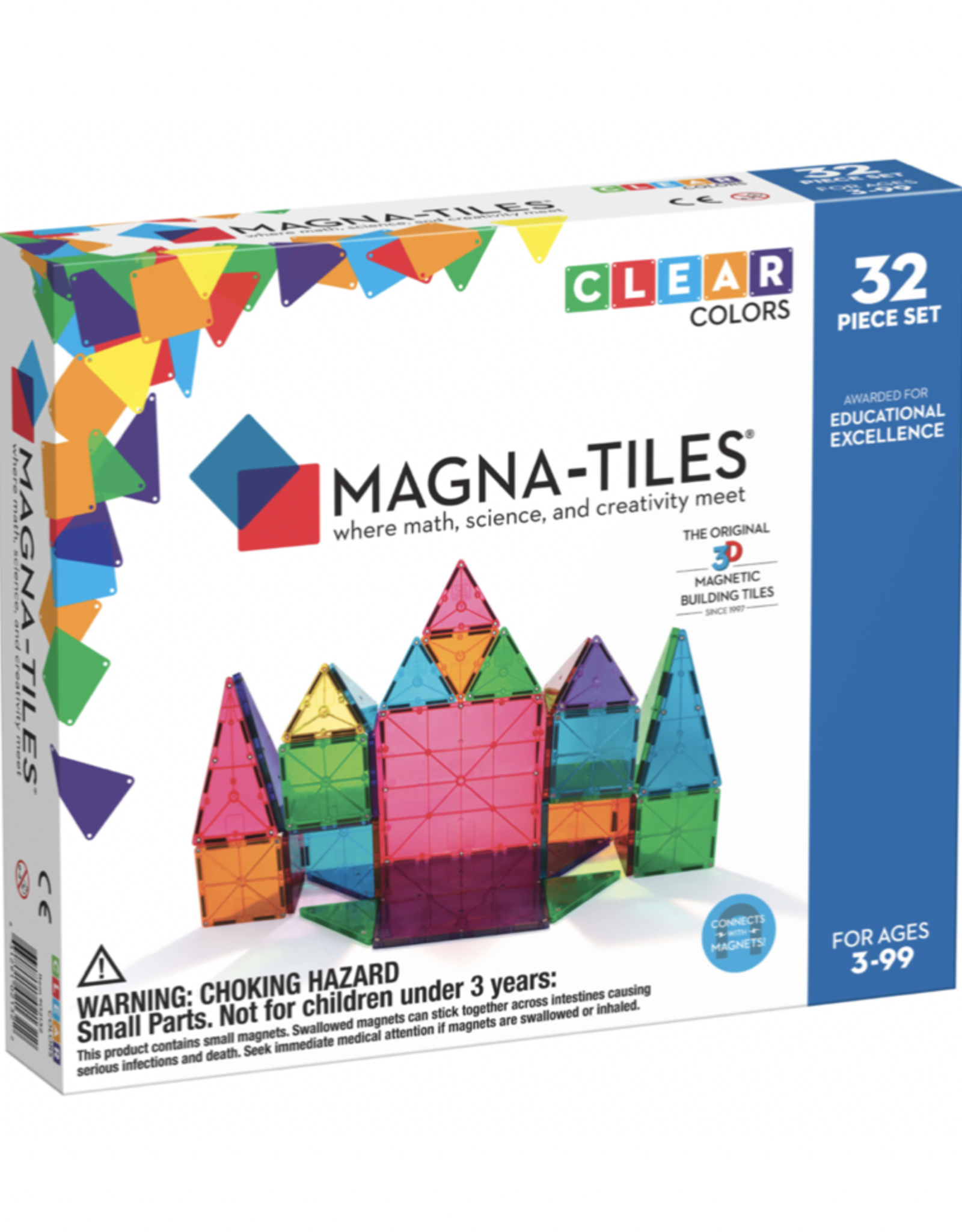 Magnatiles Magna-tiles Clear Colors 32 Piece Set