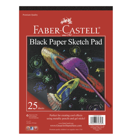 "Faber Castell Black Paper Sketch Pad 9"" x 12"