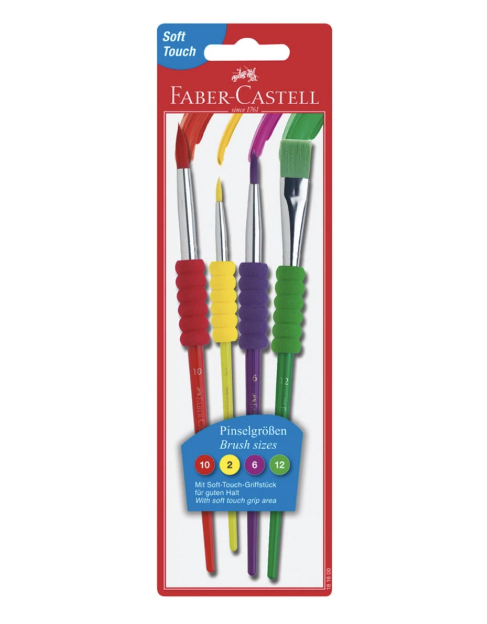 Faber Castell Soft Grip Brushes - 4pk