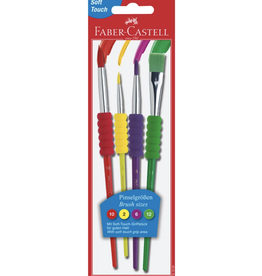 Faber Castell Soft Grip Brushes - 4pk