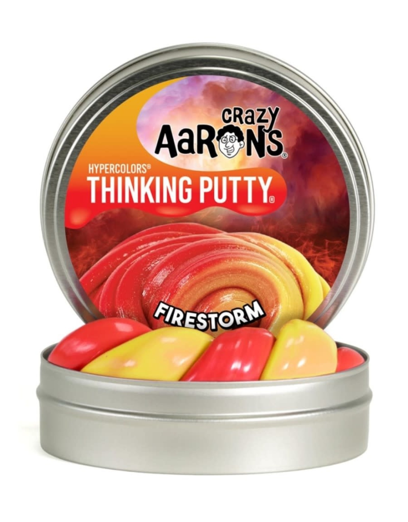 "Crazy Aaron's Puttyworld Crazy Aaron's Putty - Fire Storm 4"" Tin"