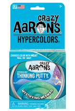 Crazy Aaron's Puttyworld Thinking Putty 4'' Tin - Hypercolor Mystifying Mermaid