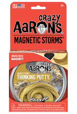 Crazy Aaron's Puttyworld Thinking Putty 4'' Tin - Magnetic Gold Rush