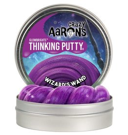 Crazy Aaron's Puttyworld Thinking Putty 4'' Tin - Glow Wizards Wand