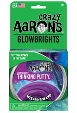 Crazy Aaron's Puttyworld Thinking Putty 4'' Tin - Glow Wizards Wand