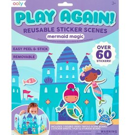 Ooly Play Again! Reusable Sticker Scenes: Mermaid Magic