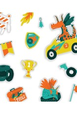 Ooly Play Again! Reusable Sticker Scenes: Dragon Racetrack