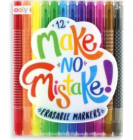 Ooly Make No Mistakes Erasable Markers - Set of 12