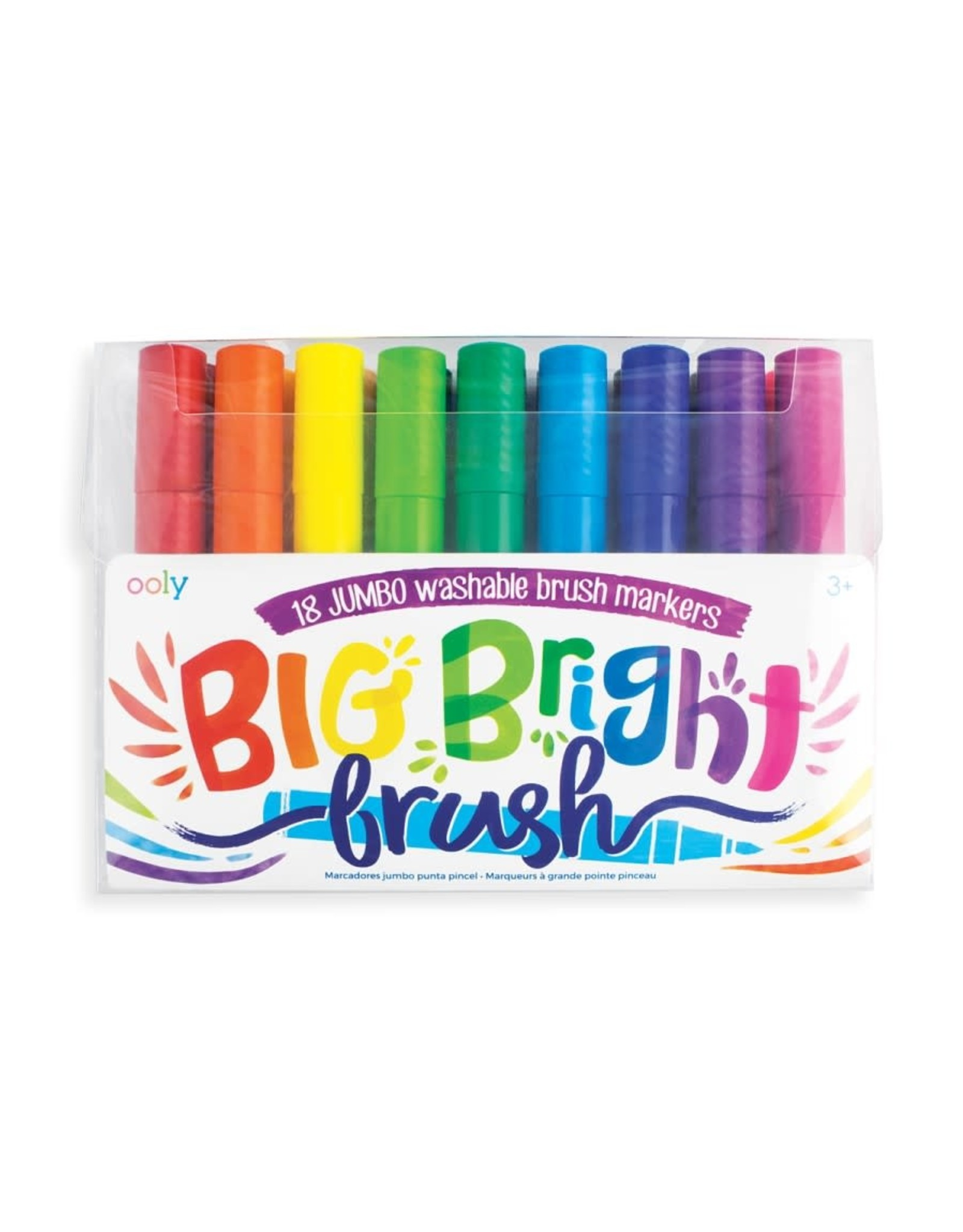 Ooly Big Bright Brush Markers - Set of 18