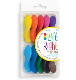 International Arrivals Left Right Crayons - Set of 10