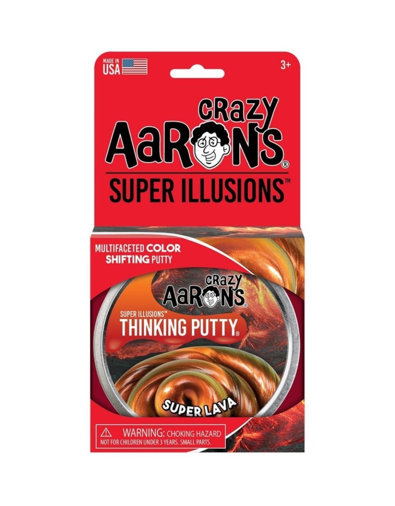 Crazy Aaron's Puttyworld Thinking Putty 4'' Tin - Illusion Super Lava