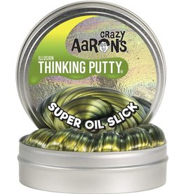 Crazy Aaron's Puttyworld Thinking Putty 4'' Tin - Illusion Super Oil Slick