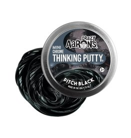 "Crazy Aaron's Puttyworld Crazy Aaron's Putty - Chrome Pitch Black 2"" Tin"