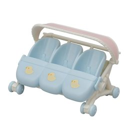 Calico Critters CC Triplets Baby Stroller