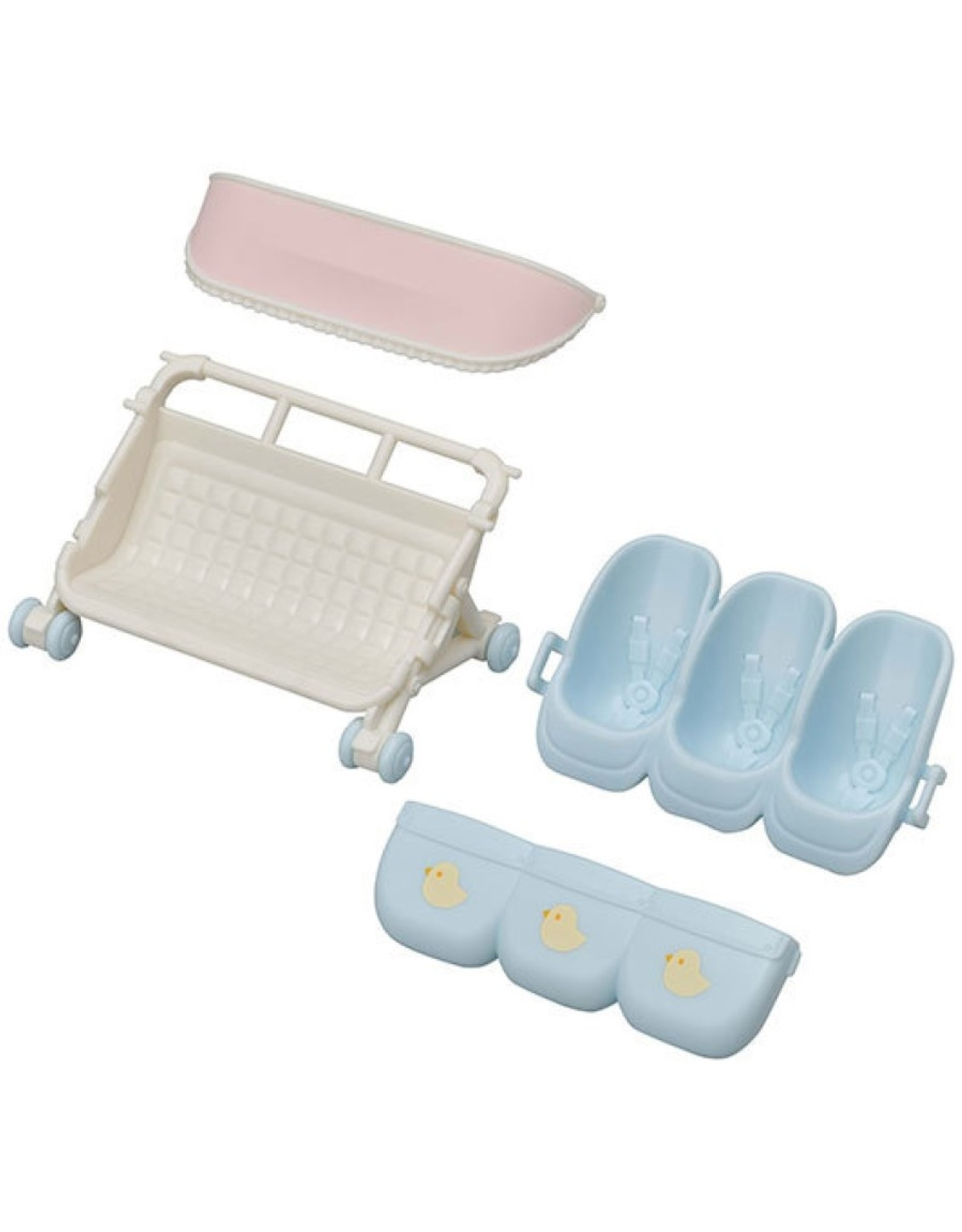 Calico Critters CC Triple Baby Stroller