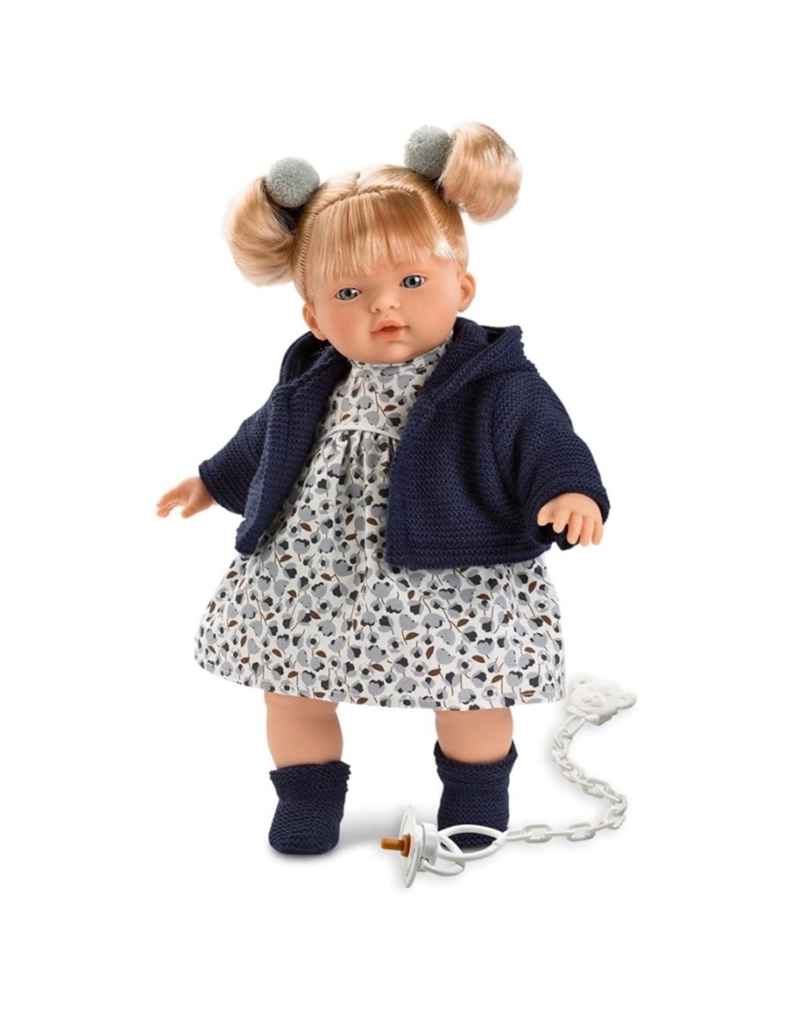 "Llorens Llorens -  Melissa 13"" Soft Body Crying Baby Doll"