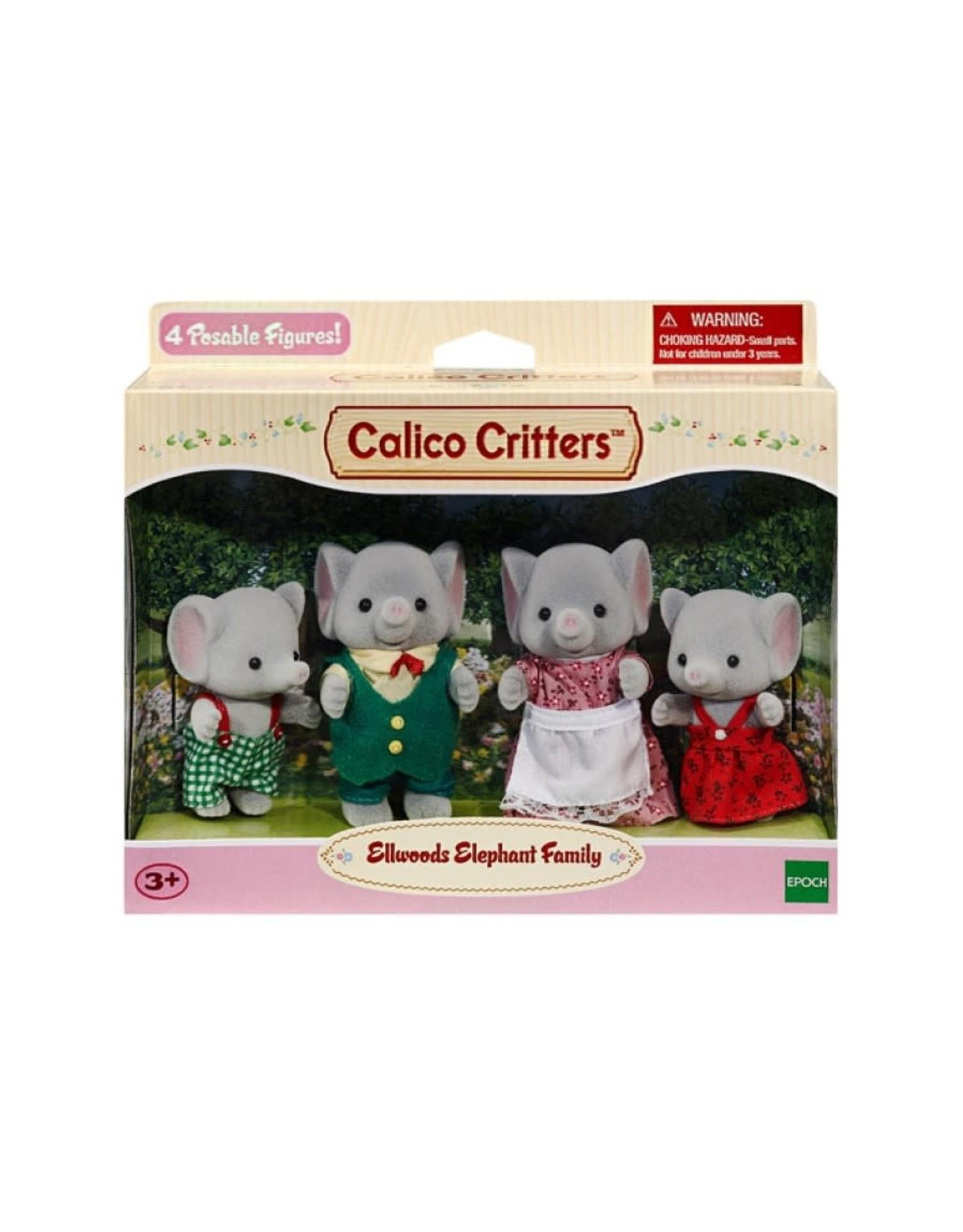Calico Critters CC Ellwoods Elephant Family