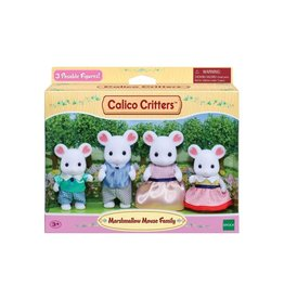 Calico Critters CC Marshmallow Mouse Family