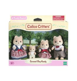 Calico Critters CC Caramel Dog Family