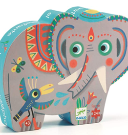 Djeco Silhouette Puzzles Haathee, Asian Elephant - 24pcs