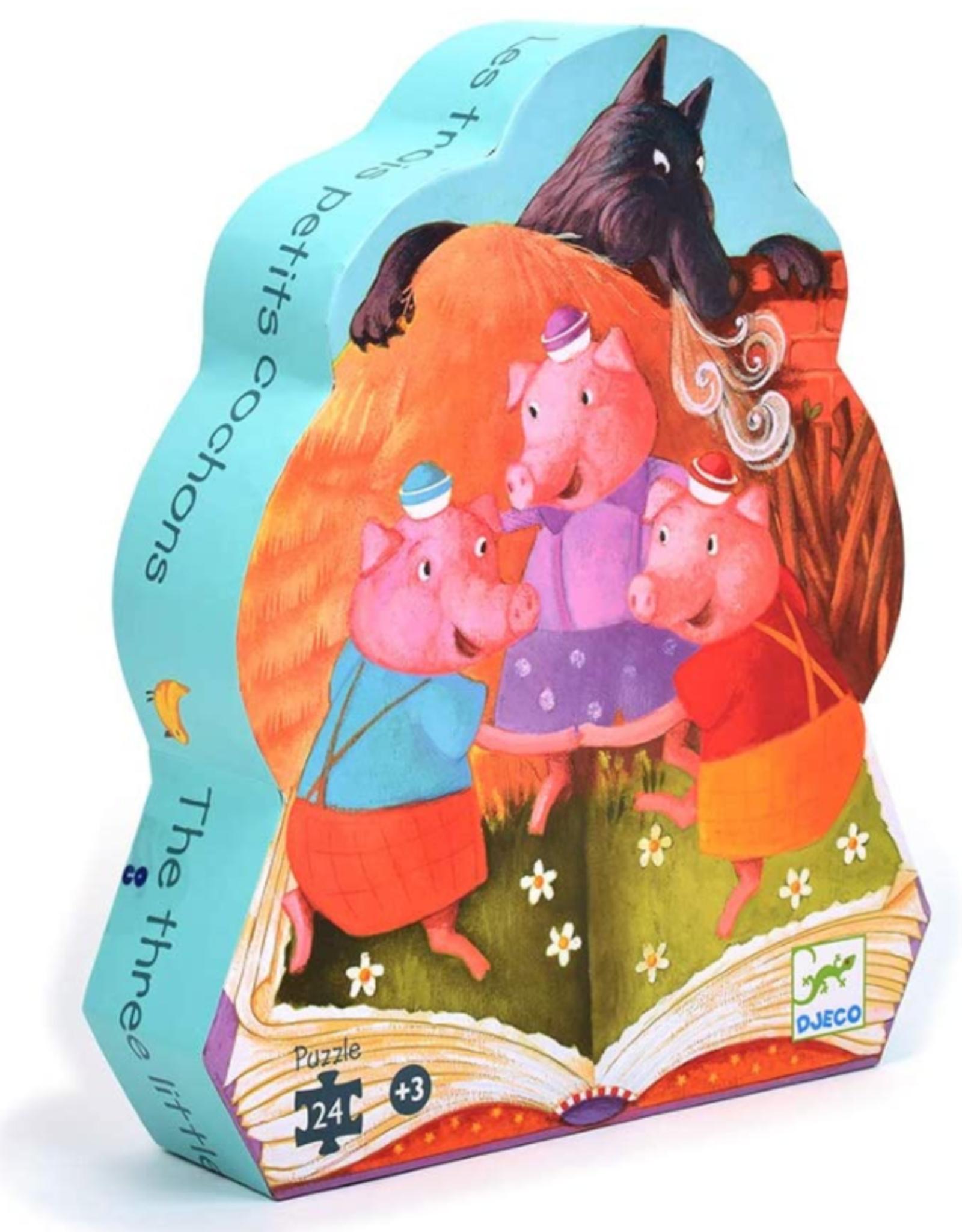 Djeco Silhouette Puzzles - The 3 Little Pigs - 24pcs