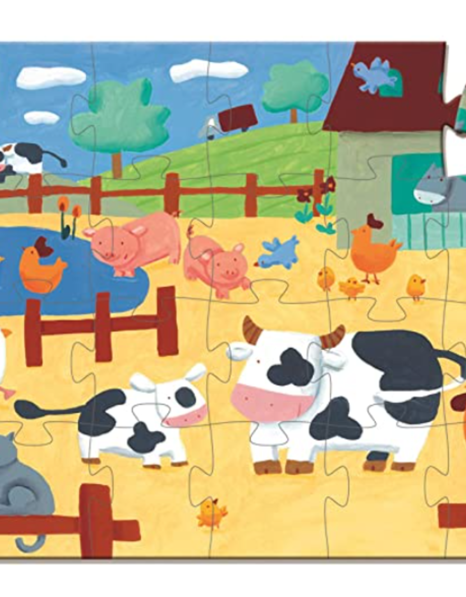 Djeco Silhouette Puzzle 24pc - The Cows on the Farm