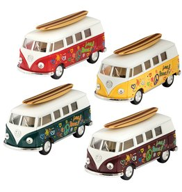Schylling Die Cast 62' VW Bus & Surfboard
