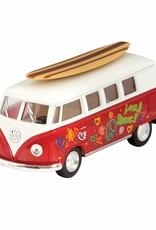 Schylling Die Cast 62' VW Bus & Surfboard