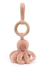 Jellycat Jellycat Odell Octopus - Wooden Ring Stroller Toy