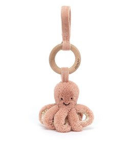 Jellycat Jellycat Odell Octopus - Wooden Ring Stroller Toy