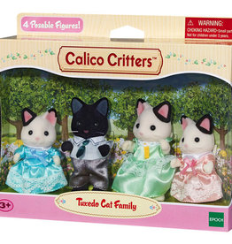Calico Critters CC Tuxedo Cat Family