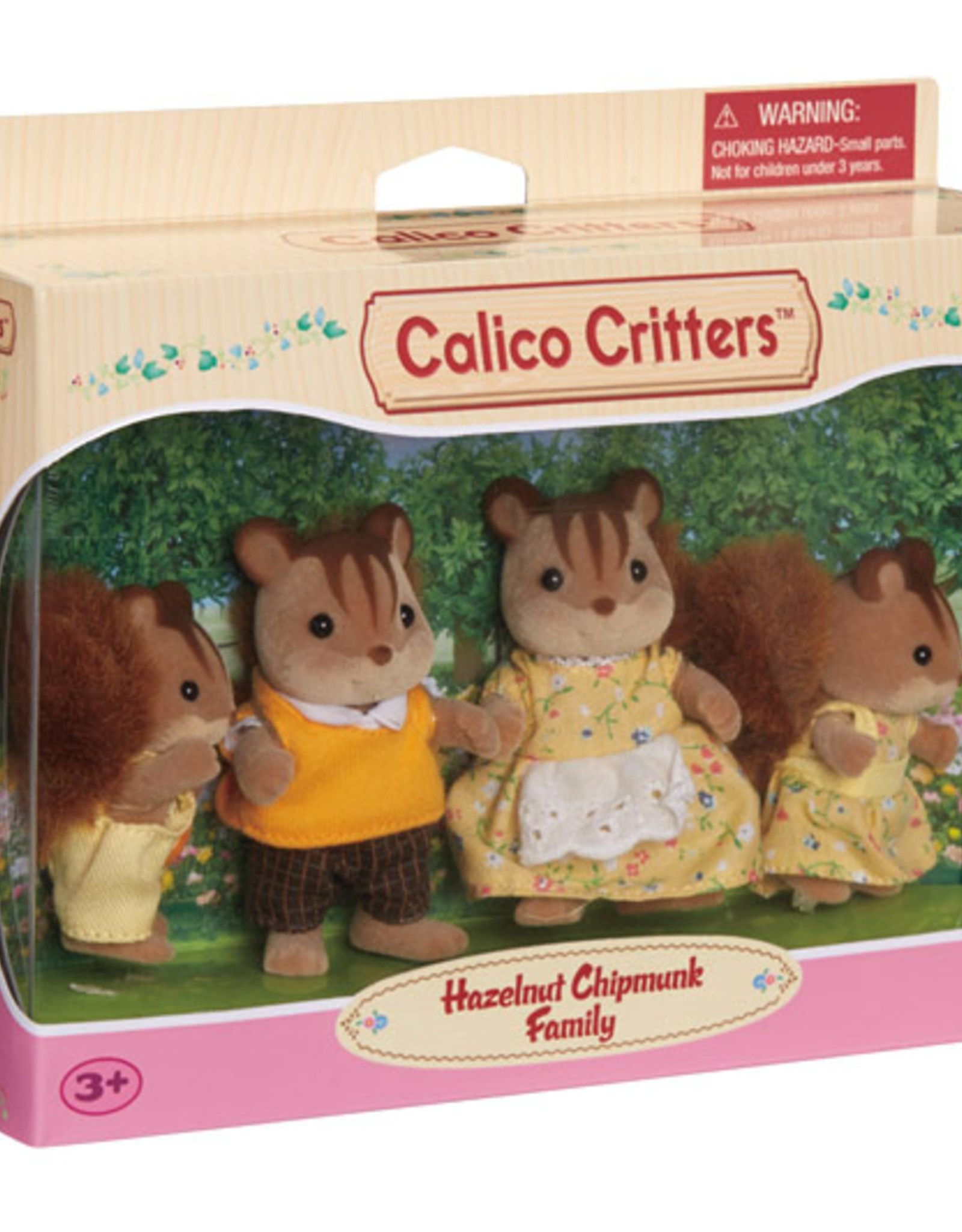 Calico Critters CC Hazelnut Chipmunk Family